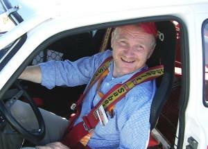 Autopapst Andreas Keßler zur Oldtimer Ausfahrt