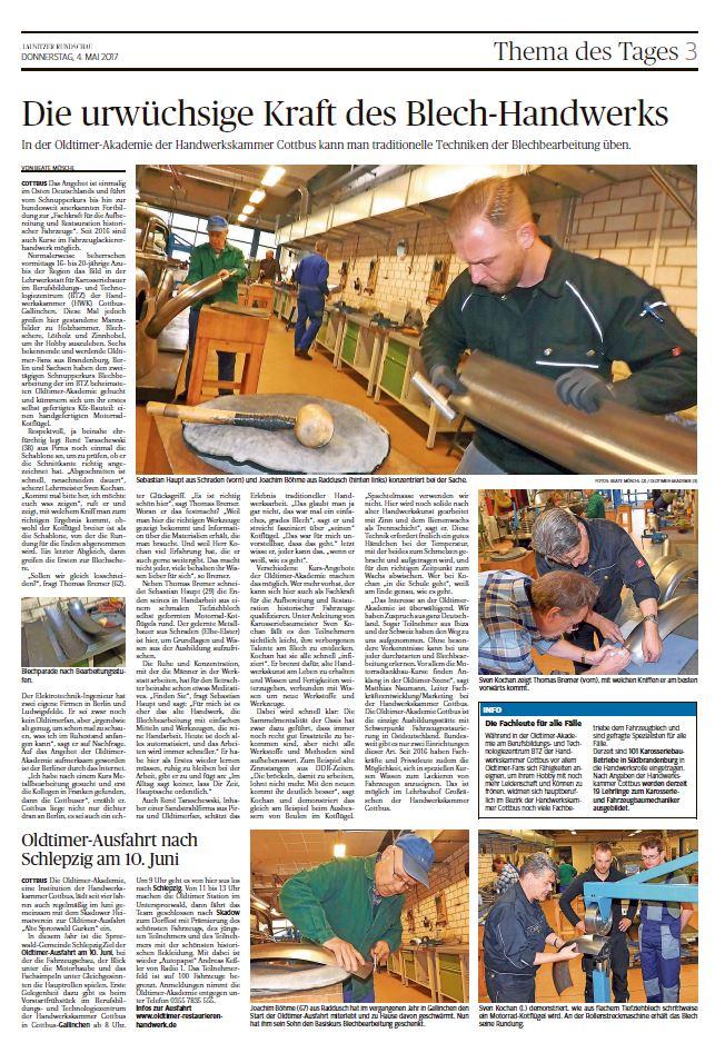 Zeitungsartikel - Oldtimer Akademie